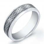 7mm Tungsten Carbide ring with Celtic design