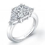 Radiant Cut Three Stone Engagement Ring
