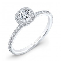 14kt White Gold Halo Engagement Ring (0.62ctw)
