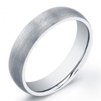 6mm Tungsten Carbide ring with a domed top in a matte finish