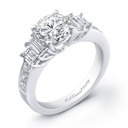 Double Baguette Engagement Ring
