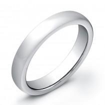 4mm Half round high polished Tungsten Carbide band