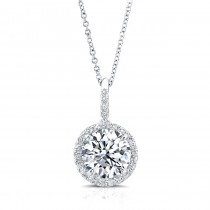 Diamond Halo Pendant (Multiple Sizes)