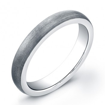 4mm Tungsten Carbide band with a domed matte top