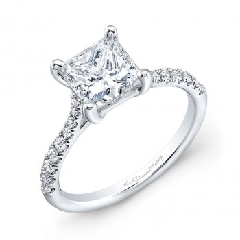 Princess Cut Micro Pave Engagement Ring